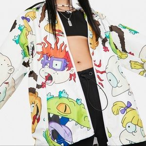 Members Only x Nickelodeon windbreaker hoodie collab NWT